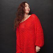 """Одежда ручной работы. Ярмарка Мастеров - ручная работа Свободный джемпер """"Красный"""". Handmade."""