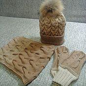 Одежда ручной работы. Ярмарка Мастеров - ручная работа Набор: шапка, варежки,снуд. Handmade.