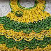 Вязание платья лужок 1 часть 50
