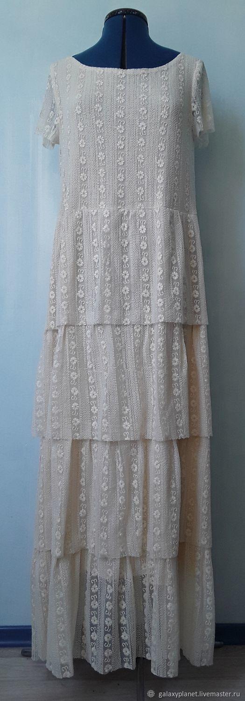 """Нежное, ярусное платье из сеточки с вышивкой """"Ариадна"""", Платья, Солнечногорск,  Фото №1"""