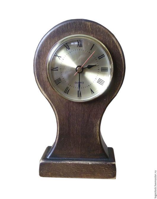 Часы для дома ручной работы. Ярмарка Мастеров - ручная работа. Купить Настольные часы. Бук.. Handmade. Коричневый, дуб