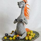 Куклы и игрушки ручной работы. Ярмарка Мастеров - ручная работа Конь в яблоках. Handmade.