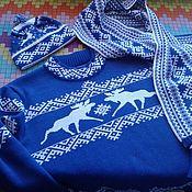 Одежда ручной работы. Ярмарка Мастеров - ручная работа Джемпер +шапка +шарф. Handmade.