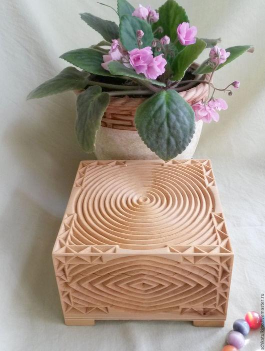 """Шкатулки ручной работы. Ярмарка Мастеров - ручная работа. Купить Шкатулка для украшений """"Ясный взор"""" деревянная резная, для бижутерии. Handmade."""