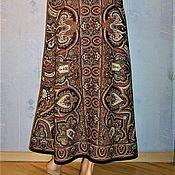 Одежда handmade. Livemaster - original item Skirt-Maxi(to the floor) of Pavlovo-Posad shawls