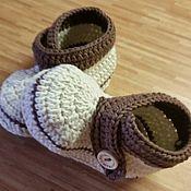 Работы для детей, ручной работы. Ярмарка Мастеров - ручная работа Пинетки - ботиночки для мальчика. Handmade.