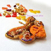 Украшения ручной работы. Ярмарка Мастеров - ручная работа Брошь Солнечная бабочка. Handmade.
