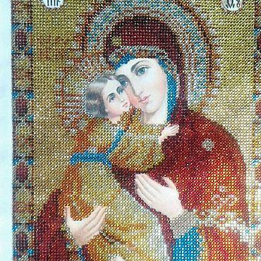 Картины и панно ручной работы. Ярмарка Мастеров - ручная работа Алмазная мозаика,  Богородица Владимирская. Handmade.
