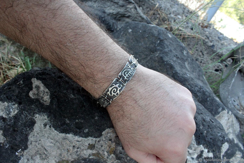 Men's and women's silver bracelet with rock carvings RO0005, Bead bracelet, Yerevan,  Фото №1