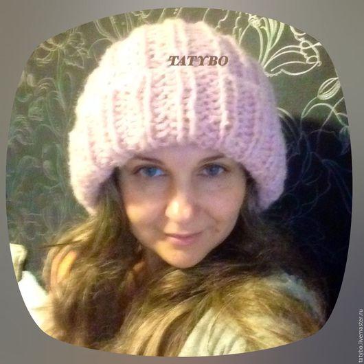 """Шапки ручной работы. Ярмарка Мастеров - ручная работа. Купить Шапка объемная """"Розовая дымка"""". Handmade. Розовый, вязаная шапка"""