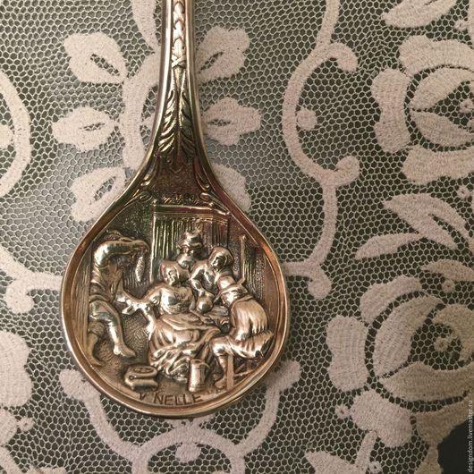 Винтажная посуда. Ярмарка Мастеров - ручная работа. Купить Ложка для сахара серебрение. Handmade. Серебряный, ваза, сахарница, тортик