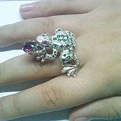 Rings handmade. Livemaster - original item Ring Frog. Handmade.