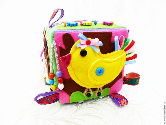 """Развивающие игрушки ручной работы. Ярмарка Мастеров - ручная работа. Купить Развивающий кубик """" Ассорти"""". Handmade. Ручная работа"""