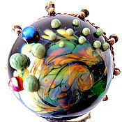 Украшения handmade. Livemaster - original item Ring of lampwork colors of summer. Handmade.