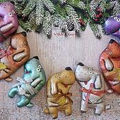 Подарки к праздникам ручной работы. Ярмарка Мастеров - ручная работа Собака.Кофейные игрушки. Handmade.