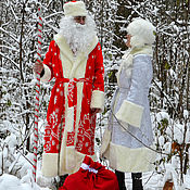Одежда handmade. Livemaster - original item a costume of father Frost and snow Maiden. Handmade.