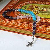 Фен-шуй и эзотерика handmade. Livemaster - original item Gift beads made of amethyst, rose quartz and aquamarine. Handmade.