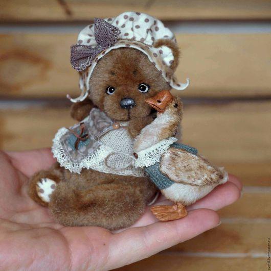 Мишки Тедди ручной работы. Ярмарка Мастеров - ручная работа. Купить Марфуша и ГусЯ (12.5см и 6,5см). Handmade.