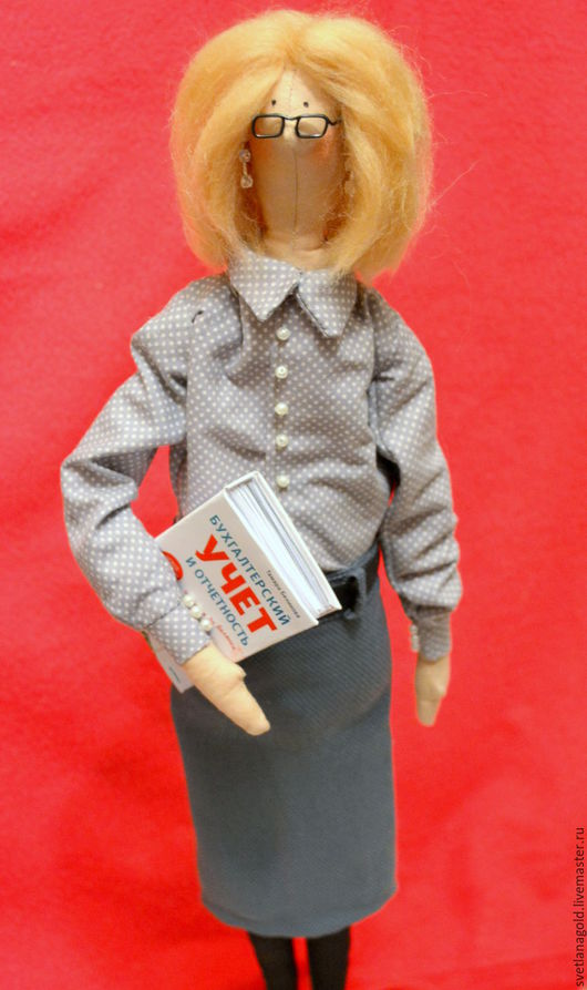 Куклы Тильды ручной работы. Ярмарка Мастеров - ручная работа. Купить Куколка Бухгалтер. Handmade. Тильда кукла, кукла по фото