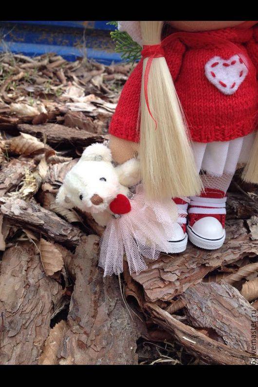 Человечки ручной работы. Ярмарка Мастеров - ручная работа. Купить Кукла текстильная. Handmade. Бежевый, текстильная кукла, интерьерная игрушка