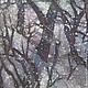 Пейзаж ручной работы. Картина Снегопад, на х/б ткани в технике горячего батика. Мария. Интернет-магазин Ярмарка Мастеров.