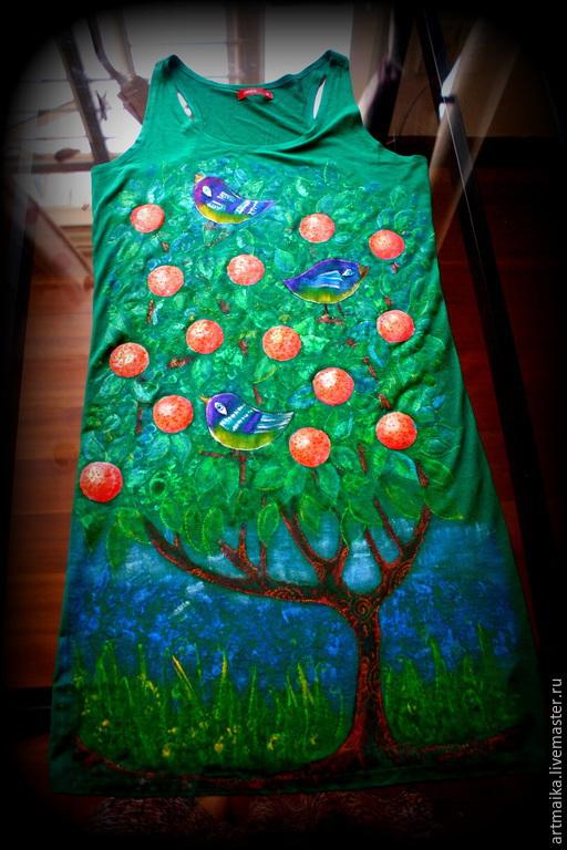 Платья ручной работы. Ярмарка Мастеров - ручная работа. Купить Платье - туника Жители мандаринового дерева. Handmade. Подарок