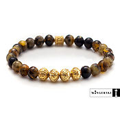 Украшения handmade. Livemaster - original item Men`s and women`s bracelet made of Baltic amber with silver charms. Handmade.