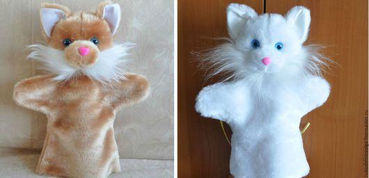 """Кукольный театр ручной работы. Ярмарка Мастеров - ручная работа. Купить """"Кошка коротковорсная"""" Кукольный театр на руку. Handmade. Разноцветный"""