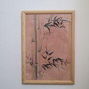 Картины и панно ручной работы. Ярмарка Мастеров - ручная работа картина Бамбук суми-е. Handmade.