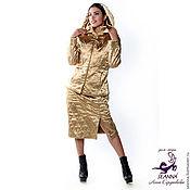 """Одежда ручной работы. Ярмарка Мастеров - ручная работа Костюм стеганый теплый """"Золотая стежка"""" из атласа разные цвета, размер. Handmade."""