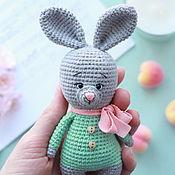 Мягкие игрушки ручной работы. Ярмарка Мастеров - ручная работа Вязаный весенний зайчик. Handmade.