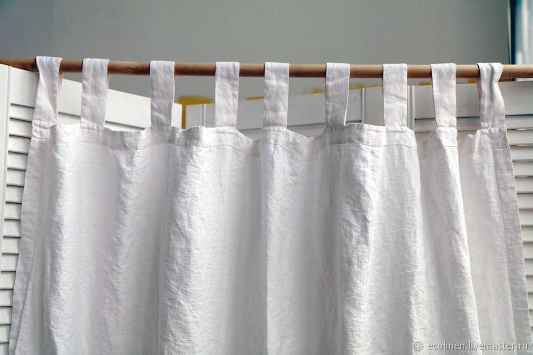 Decorative linen curtain. 100% linen. Softened, Curtains, Minsk,  Фото №1
