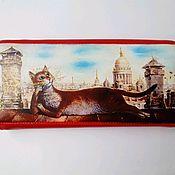 Сумки и аксессуары handmade. Livemaster - original item Women`s wallet made of genuine leather cat on the roof Saint Petersburg. Handmade.