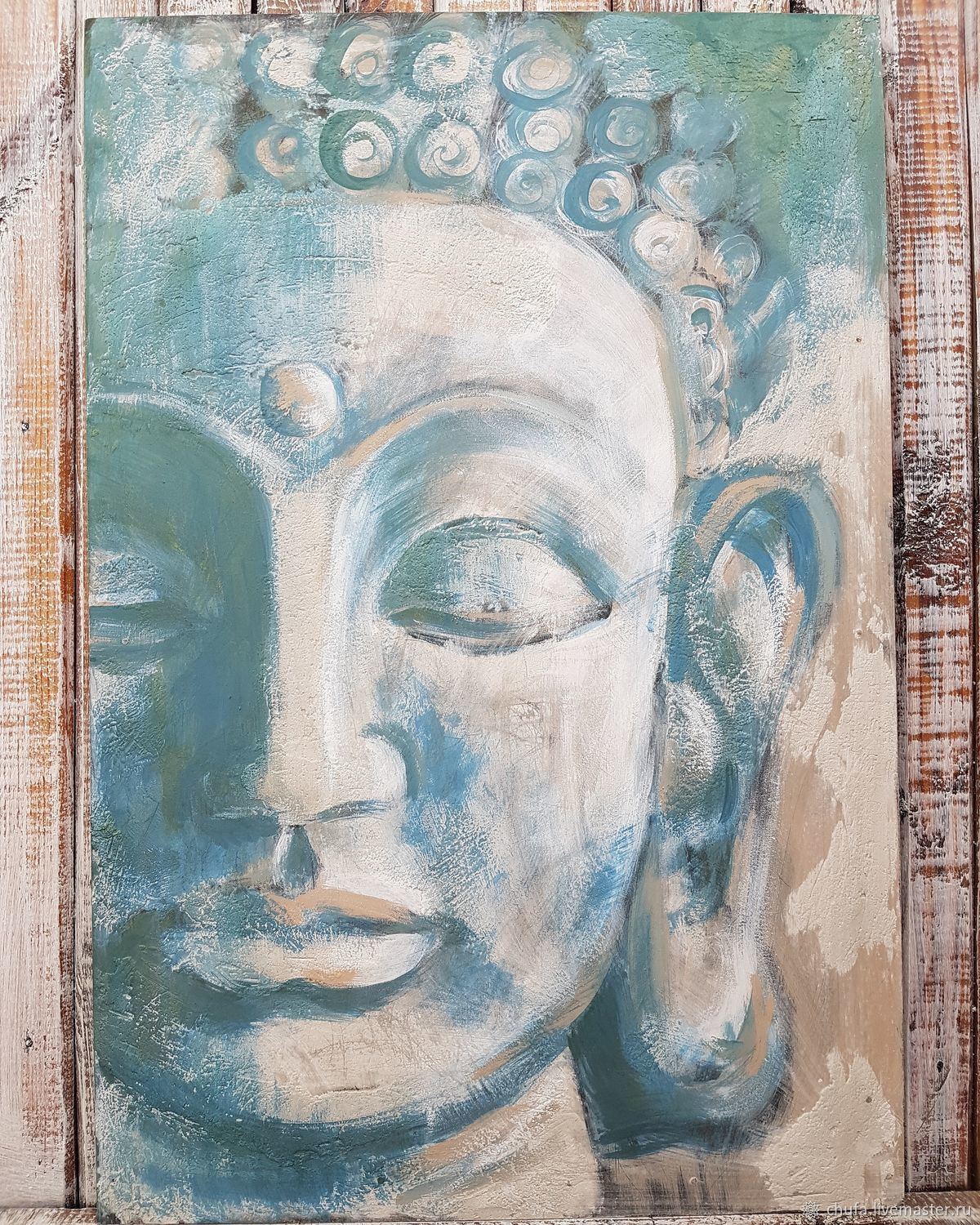 ручной работы. Ярмарка Мастеров - ручная работа. Купить Будда. Handmade. Живопись, абстракция, картина, восток, шамбала, штукатурка, лак