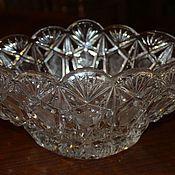 Винтаж handmade. Livemaster - original item Crystal vase, rook, handmade, Czechoslovakia, 1970s. Handmade.