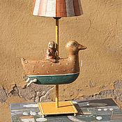 """Для дома и интерьера ручной работы. Ярмарка Мастеров - ручная работа Лампа """"Утка и утконос"""". Handmade."""