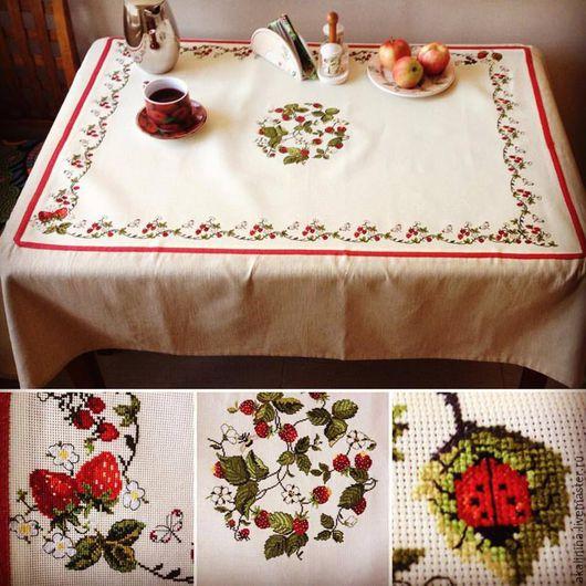 Текстиль, ковры ручной работы. Ярмарка Мастеров - ручная работа. Купить Скатерть Full of Berries. Handmade. Комбинированный, бабочка