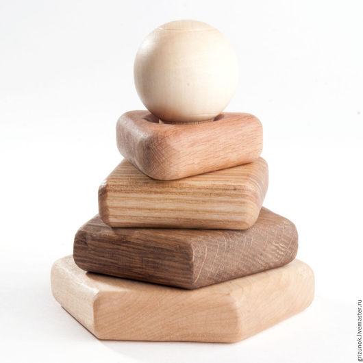 Развивающие игрушки ручной работы. Ярмарка Мастеров - ручная работа. Купить Пирамидка Эрудит 5 пород дерева. Handmade.