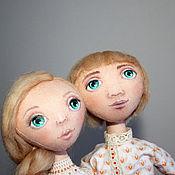 Куклы и игрушки ручной работы. Ярмарка Мастеров - ручная работа Марья и Елисей - пара текстильных кукол. Handmade.