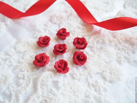 Открытки и скрапбукинг ручной работы. Ярмарка Мастеров - ручная работа. Купить Розы из полимерной глины ручной работы 1,2-1,5 мм. Handmade.