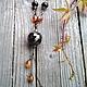 """Колье, бусы ручной работы. Ярмарка Мастеров - ручная работа. Купить Ожерелье с подвеской """"И с каждой осенью я расцветаю вновь..."""". Handmade."""