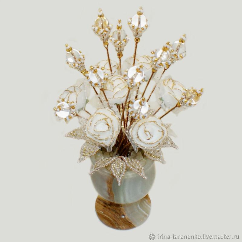 Цветы из горного хрусталя `Хрустальная свадьба`