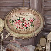 """Для дома и интерьера ручной работы. Ярмарка Мастеров - ручная работа Вешалка-ключница """" Belle Jardin"""". Handmade."""