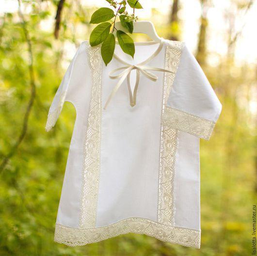 Крестильные принадлежности ручной работы. Ярмарка Мастеров - ручная работа. Купить Крестильная рубашка. Handmade. Белый, крестильный набор, крестильное