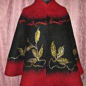 Одежда handmade. Livemaster - original item Felted poncho