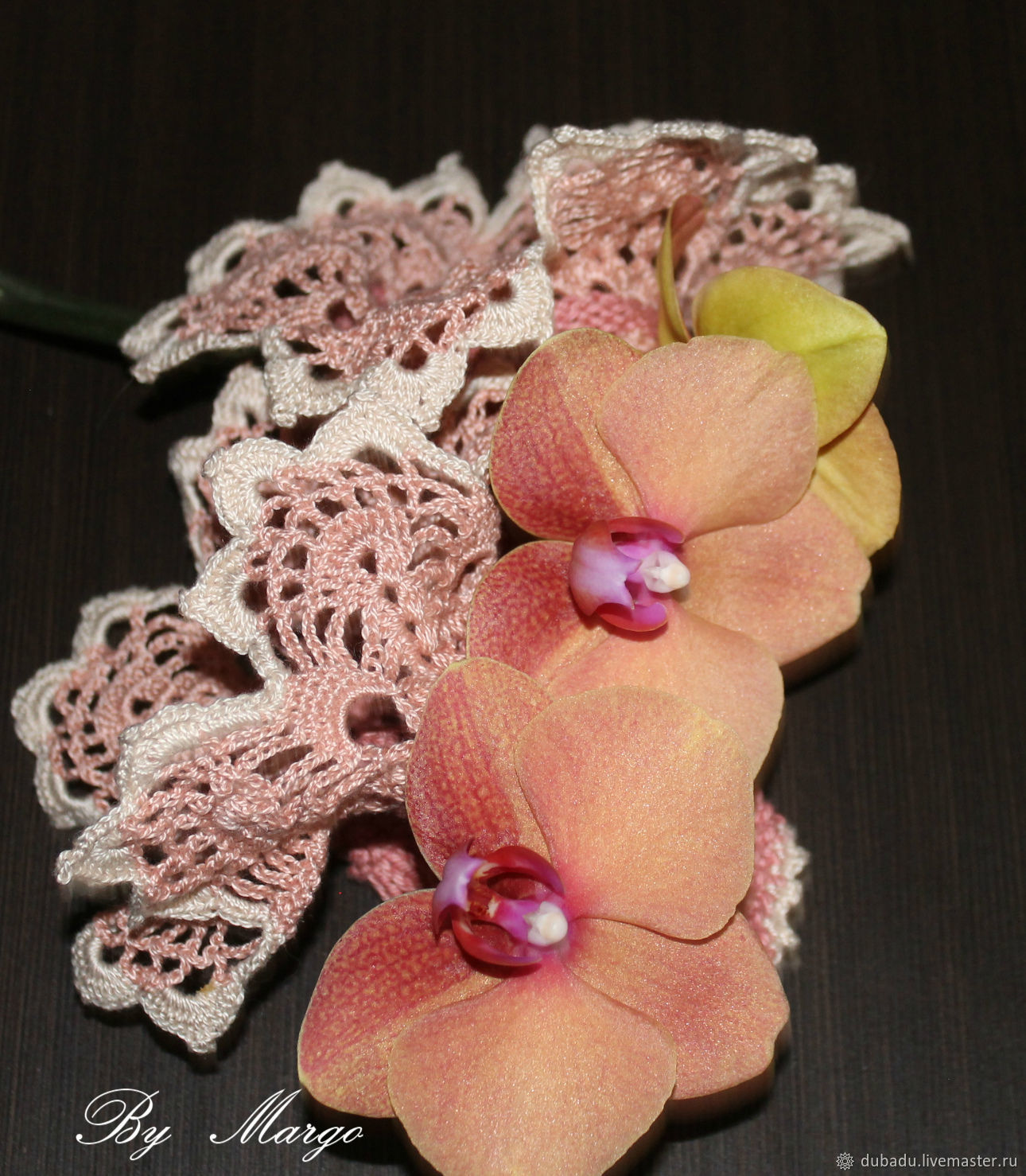 Mittens & Gloves handmade. Livemaster - handmade. Buy Cuffs with lace 'caramel', handmade.Cuff, cuff removable