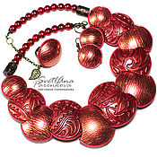 Украшения handmade. Livemaster - original item Brilliant red jewelry set (294) handmade by the author. Handmade.