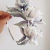 """Диадемы ручной работы. Ярмарка Мастеров - ручная работа Веточка из роз """"Барбара. Handmade."""