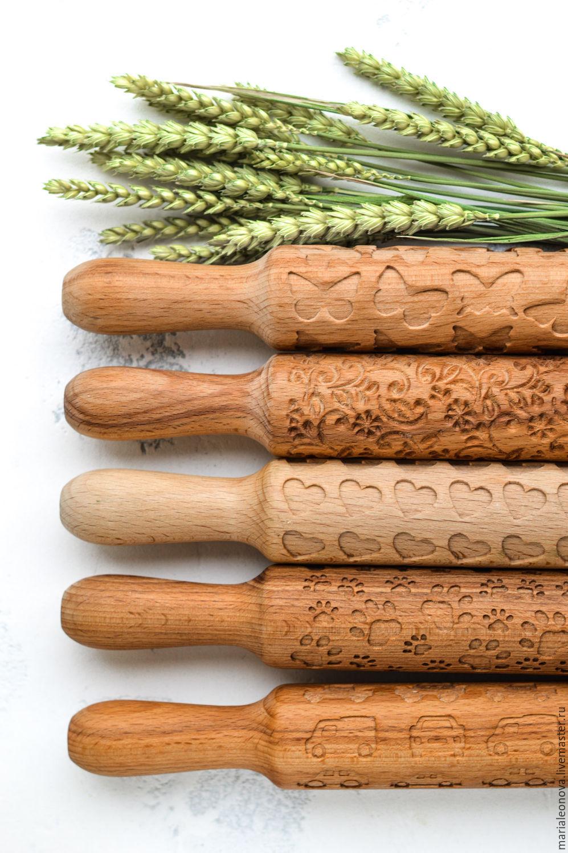Кухня ручной работы. Ярмарка Мастеров - ручная работа. Купить Скалки с узором для пряников и печенье. Handmade. Скалка для печенья