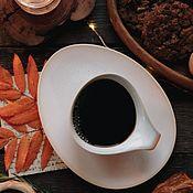 Посуда handmade. Livemaster - original item teacups: 300 ml mug and saucers Forelsket series. Handmade.